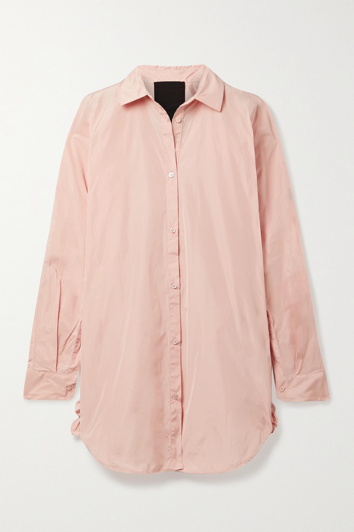 REDVALENTINO - Ruffled Taffeta Shirt - Pink - IT46