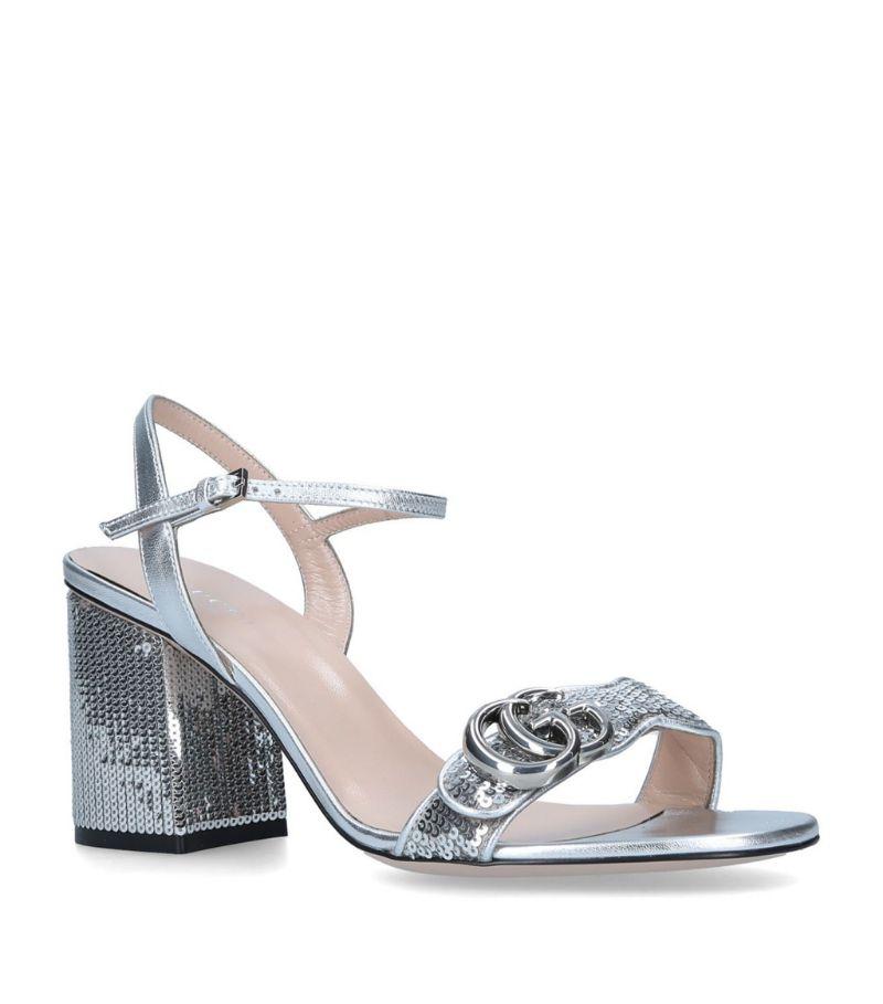Gucci Marmont Sequin Sandals 75