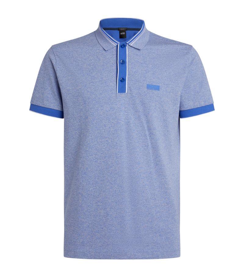 Boss Cotton Contrast-Trim Polo Shirt