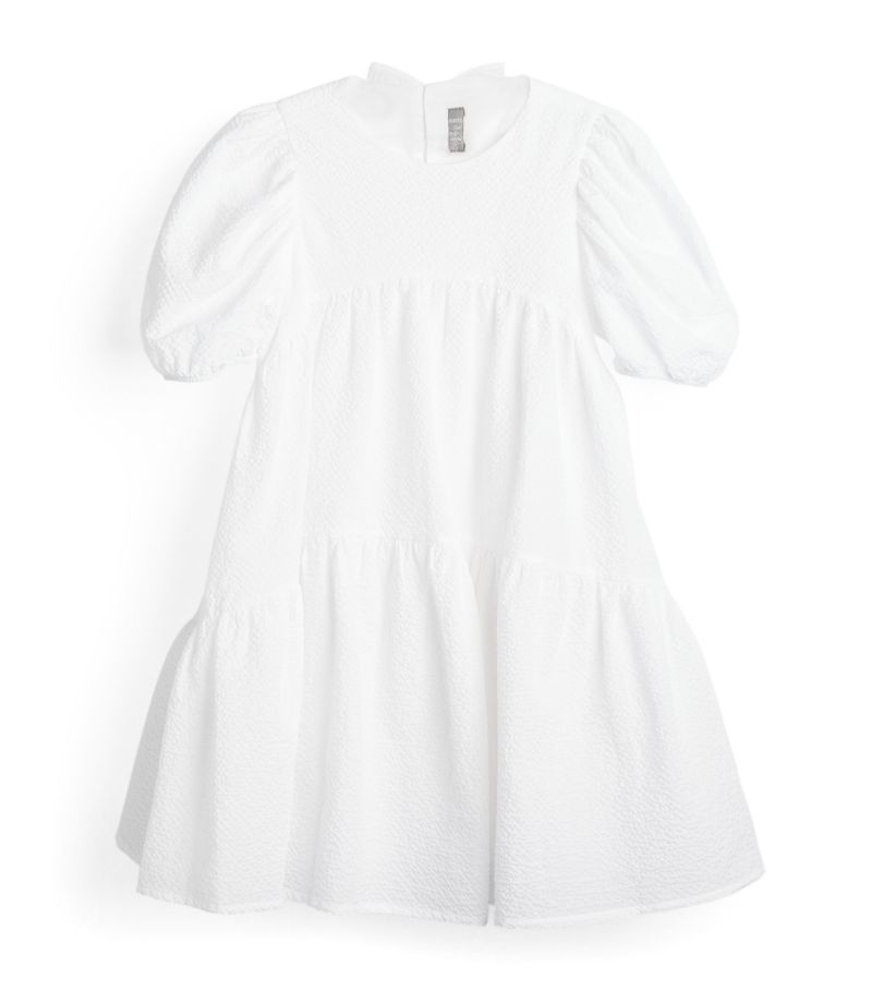 Il Gufo Tiered Puff-Sleeved Dress (3-12 Years)