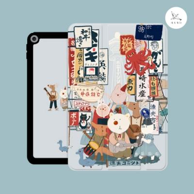 漁夫原創 iPad 2017/2018 保護殼 9.7吋 橘鳥樂隊大阪音樂節(三折式/軟殼/內置筆槽)