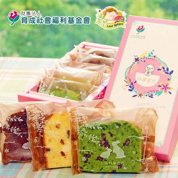 預購《愛天然-育成公益》母親節磅蛋糕綜合禮盒