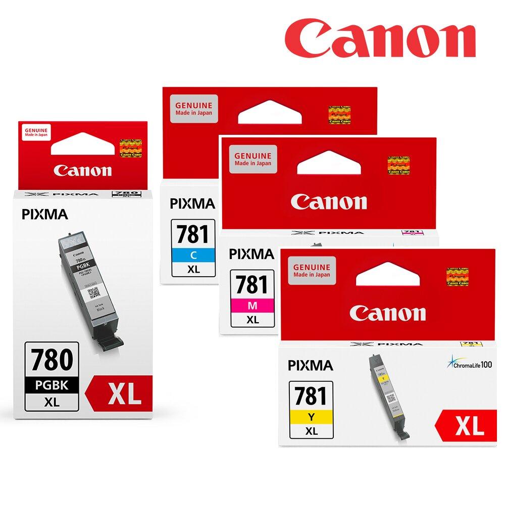 ★快速到貨◆Canon PGI-780XL-BK+CLI-781XL-C/M/Y 原廠墨水組合(1黑3彩)