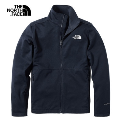 The North Face北面男款藍色防風防潑水輕量風衣|4NCNH2G