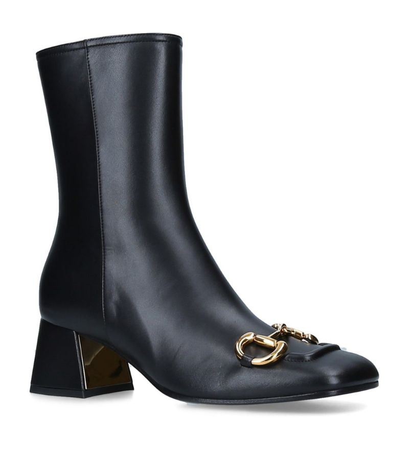 Gucci Leather Ankle Boots 55