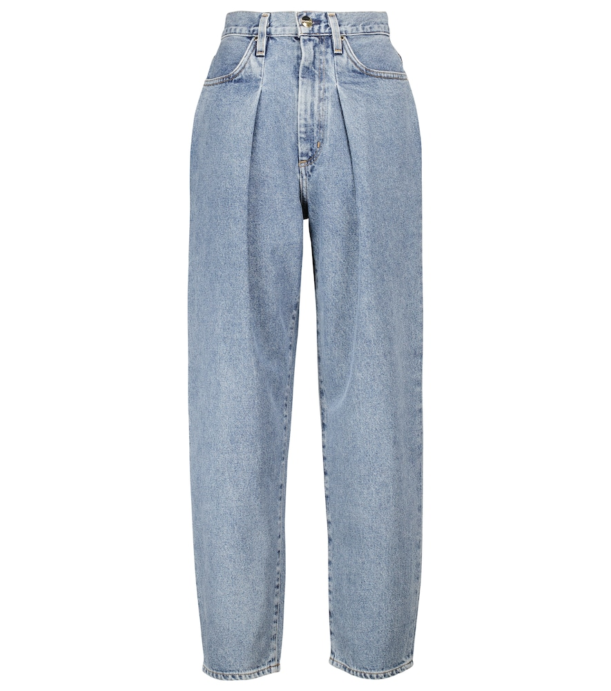 The Pleat Curve tapered jeans