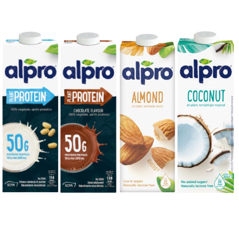 贈品 [比利時 ALPRO] 豪華試喝組 1L*4 (杏仁奶+椰奶+豆奶+巧克力豆奶)