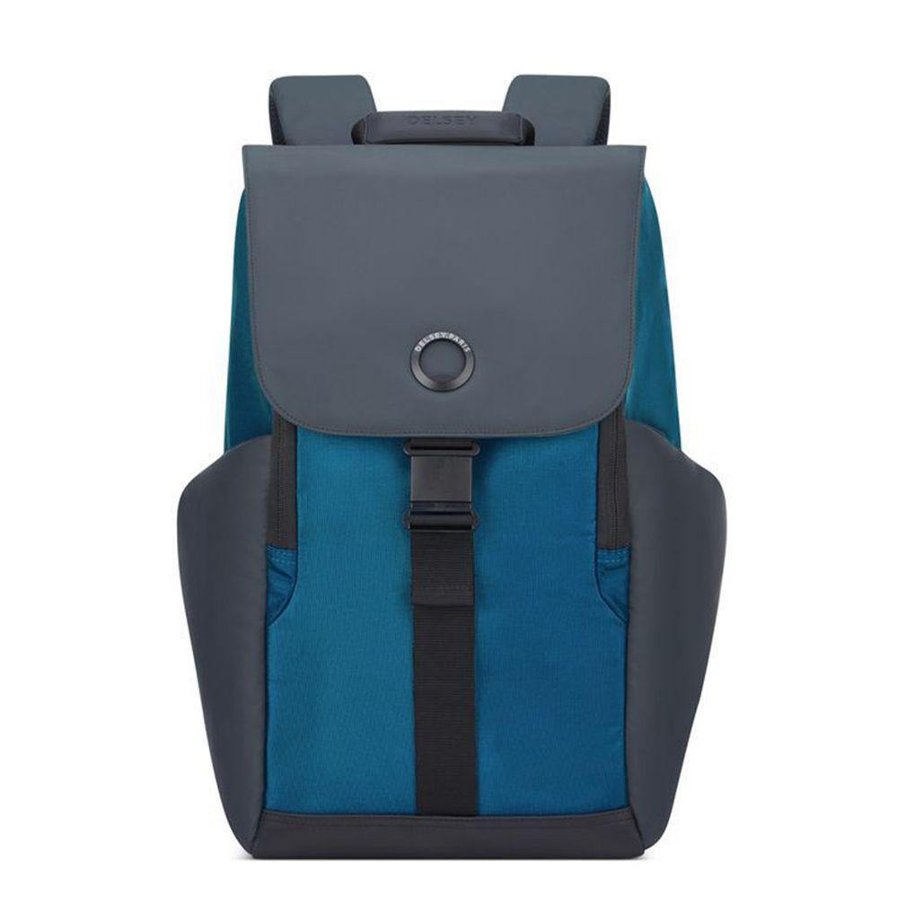 【DELSEY】SECURFLAP-15.6吋筆電後背包-藍色 00202061002