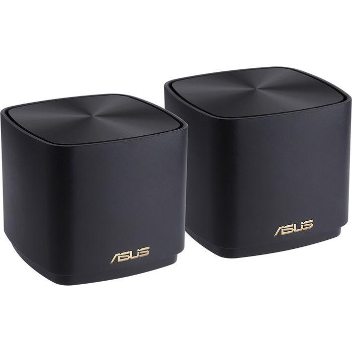 ASUS 華碩 ZenWIFI AX Mini XD4 黑 (兩件組) AX1800 三頻 Wi-Fi 6 Mesh 系統 網狀網絡 路