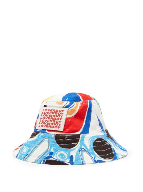 Charles Jeffrey Loverboy - Abstract-print Twill Bucket Hat - Mens - Multi
