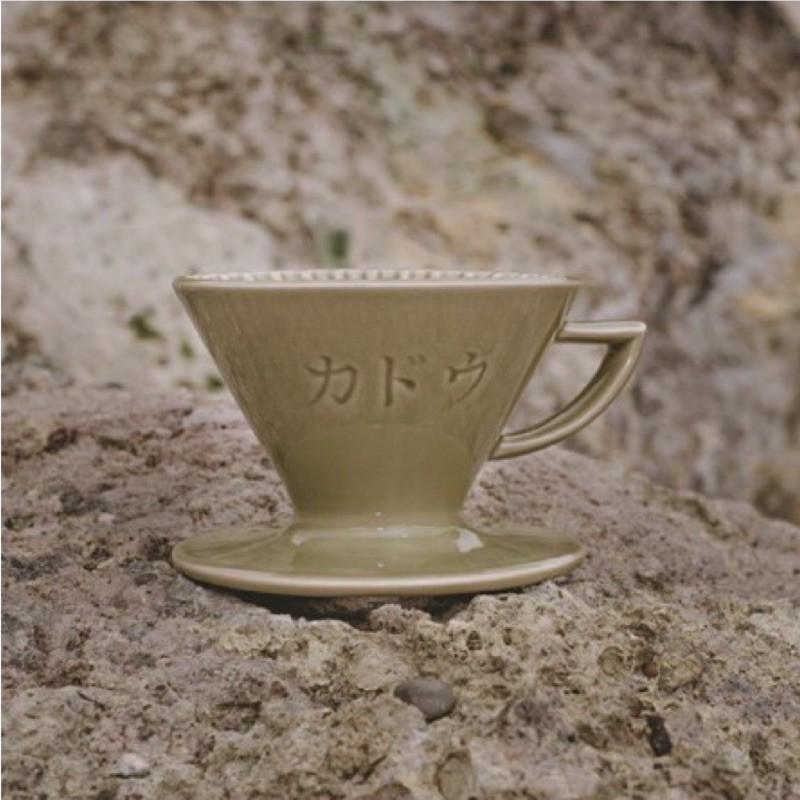 日本製 星芒濾杯 芒草綠 抹茶綠 M1錐形陶瓷濾杯 有明心 Kadou & Hasami波佐見燒 1~2人用/