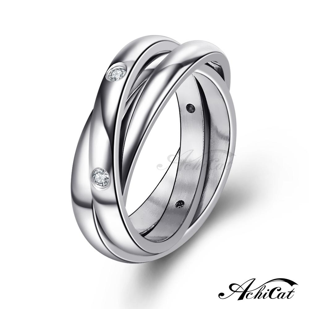 AchiCat 鋼戒指 時尚環戒 三環戒造型 個性戒指 A605