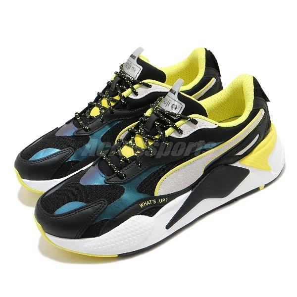 【六折特賣】Puma 休閒鞋 RS-X3 X Emoji 黑 黃 男鞋 聯名 表情符號 老爹鞋 復古慢跑鞋 【ACS】 37481901