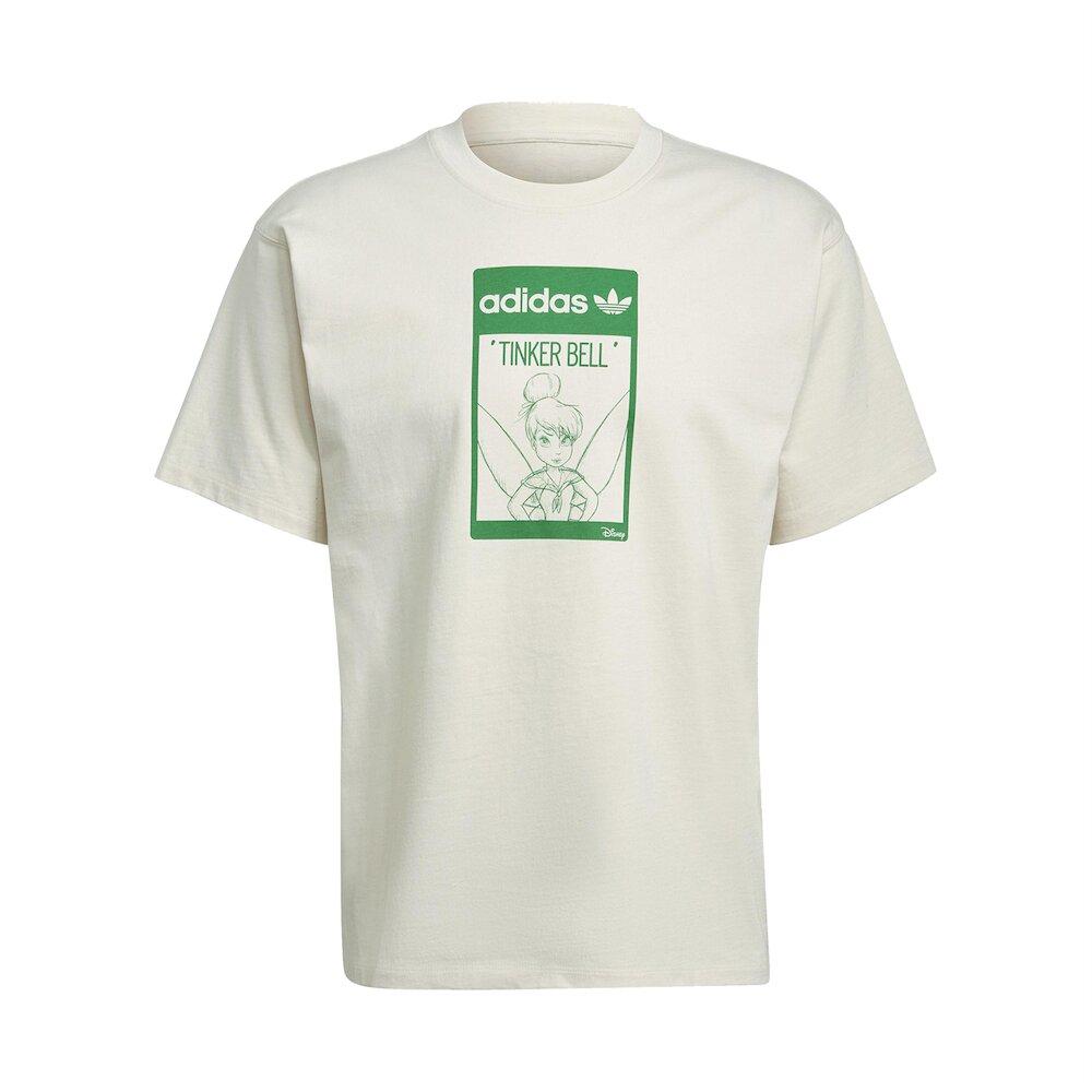 ADIDAS T恤 Original T Tinkerbell 男 愛迪達 三葉草 奇妙仙子 短袖 環保 淺褐 綠 [GP3392]