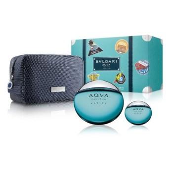 BVLGARI 寶格麗 AQVA 活力海洋水能量男性淡香水禮盒 (100ml+15ml+盥洗包) 限量版【SP嚴選家】