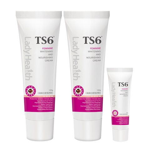 「超美白2+1組」TS6 護一生超美白香氛誘霜120gx2入送30g