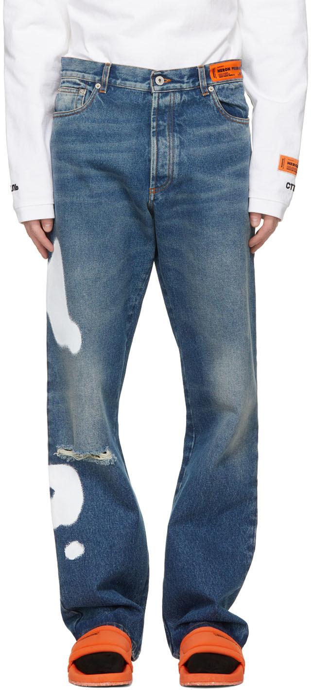 Heron Preston 蓝色五袋牛仔裤