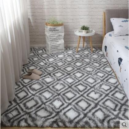 地毯 北歐ins客廳臥室床邊房間全鋪大面積少女心床下飄窗毛毯地墊 芭蕾朵朵