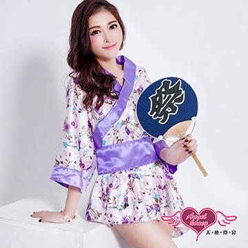 天使霓裳 和服 牡丹戀語角色扮演服(紫F)