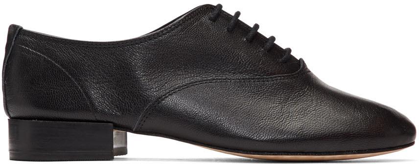 Repetto 黑色 Zizi 牛津鞋