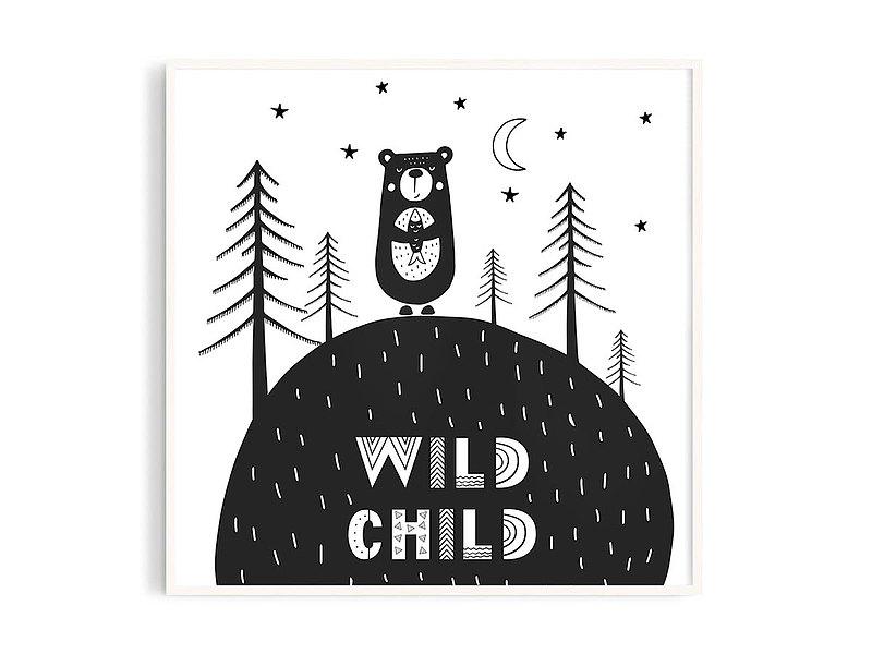 Poster • tw丨北歐男孩1_7/插畫/掛畫/海報/鋁框/A4/尺寸可客製