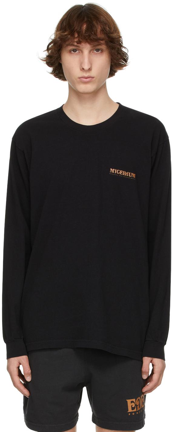 EDEN power corp 黑色 Mycellium 再生棉长袖 T 恤