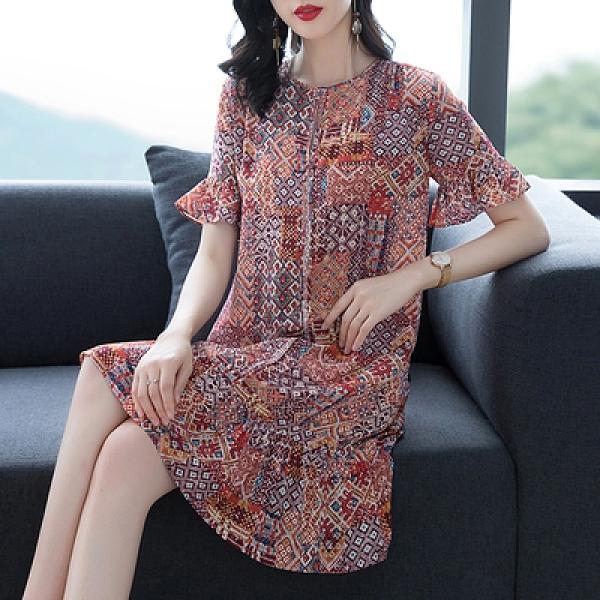 改良連身裙中國風上衣高端年新款裙子遮肚寬松H360-A1.1號公館