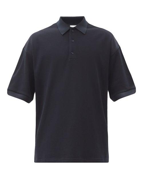 Raey - Oversized Cotton-piqué Polo Shirt - Mens - Navy
