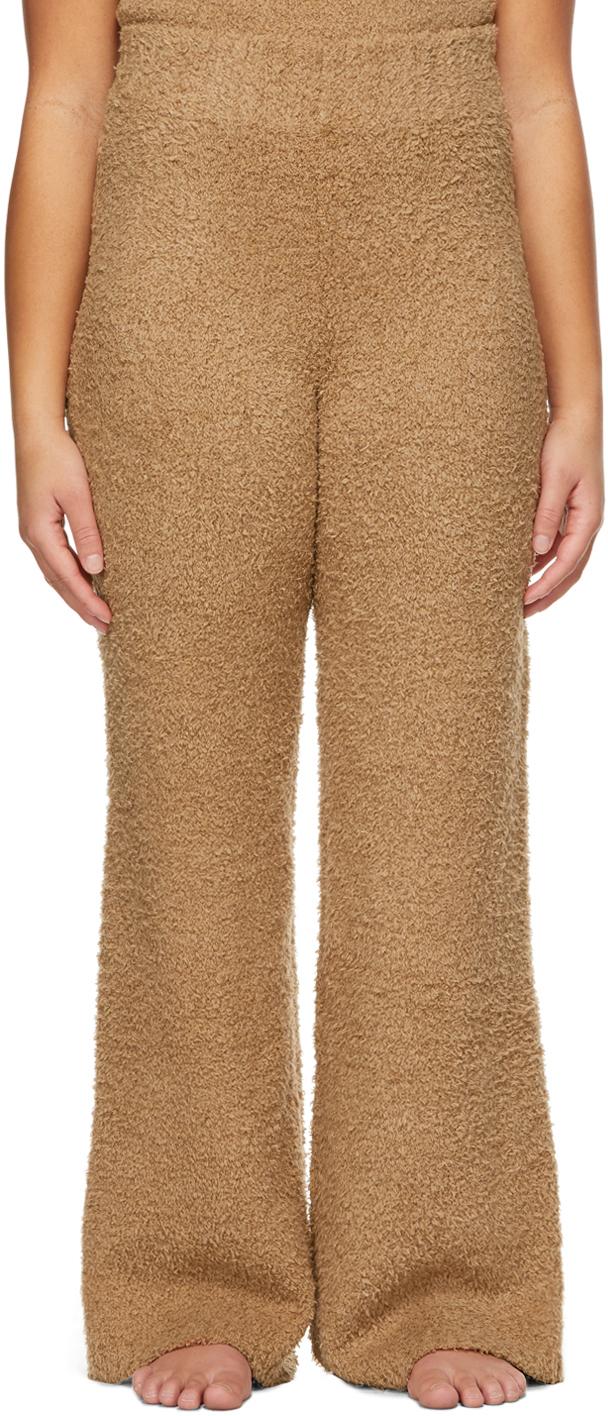 SKIMS 棕色 Cozy 针织长裤