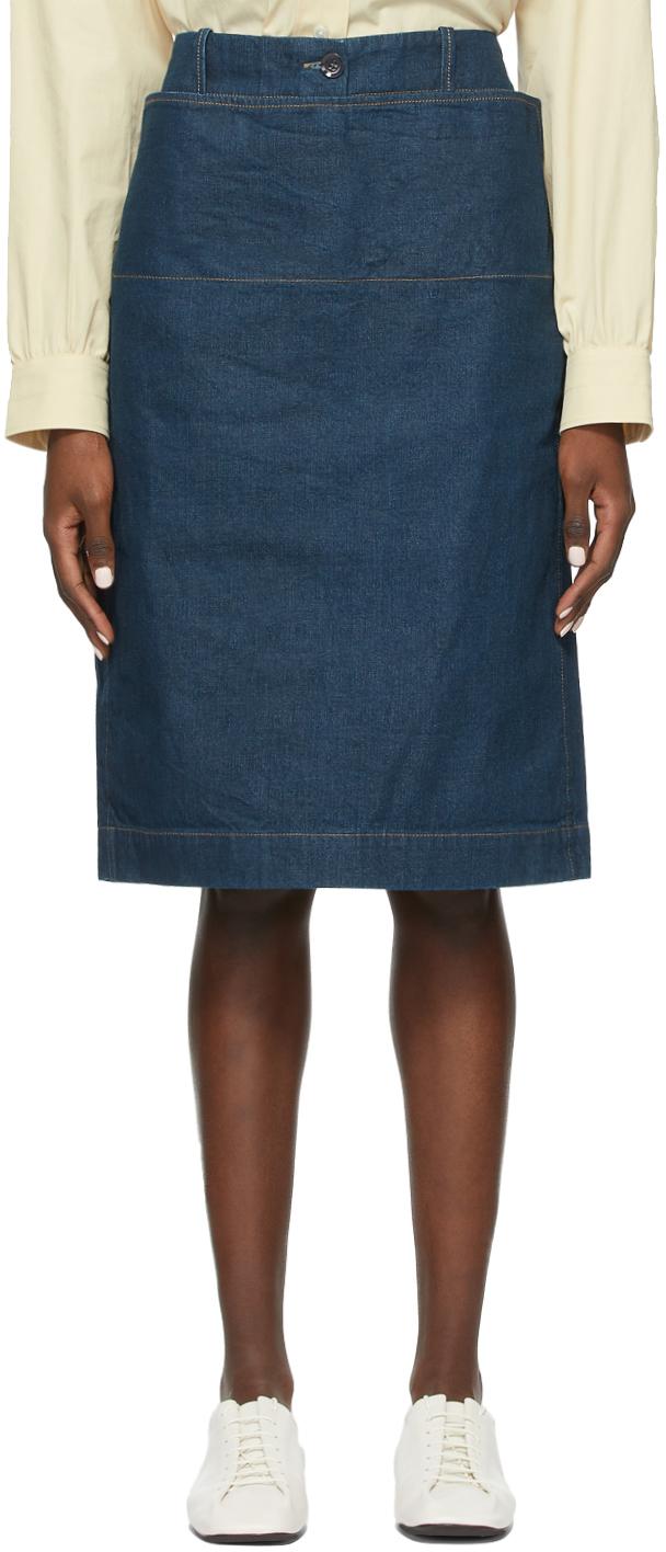 Lemaire 蓝色 Straight 牛仔短裙