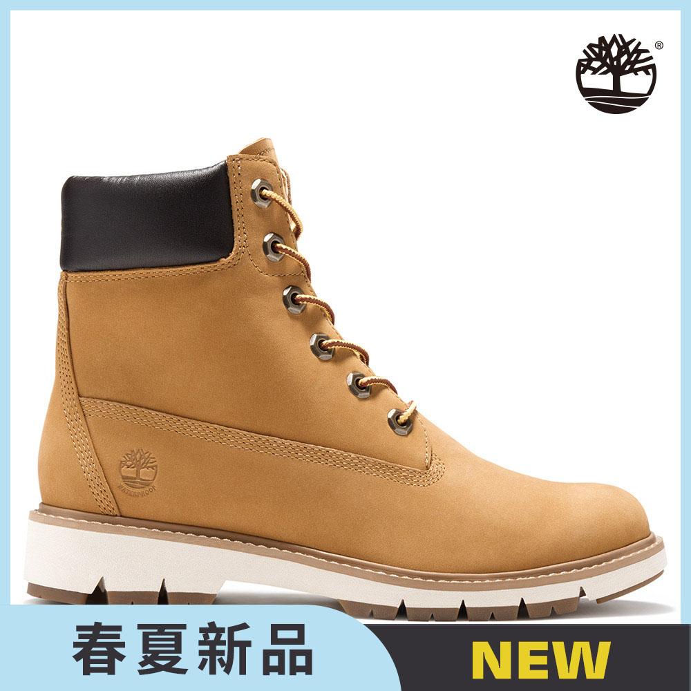 Timberland 女款小麥黃磨砂革中筒靴|A1T6U231