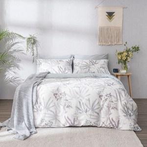 台灣製天絲被套床包枕套四件組-雙人-花漾(附束袋)