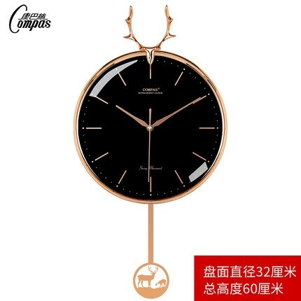 擺鐘 掛鐘客廳家用時尚時鐘掛牆靜音北歐個性創意免打孔搖擺鐘錶T