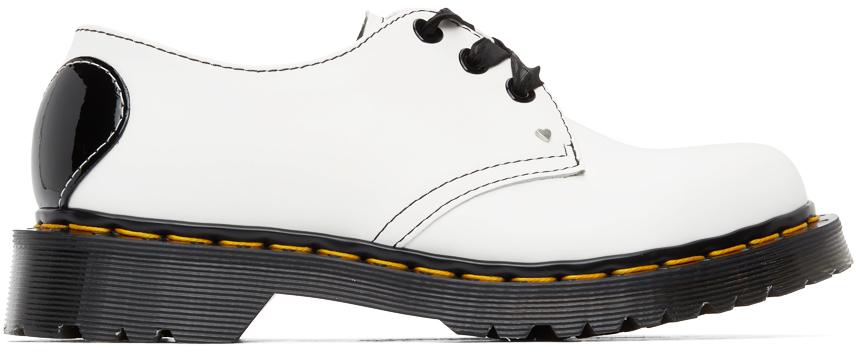 Dr. Martens 白色 1461 Hearts 牛津鞋
