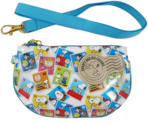 【卡漫城】 Snoopy PVC 零錢包 郵票 ㊣版 大容量 零錢袋 史奴比史努比 拉鍊式 化妝包 收納 票卡包