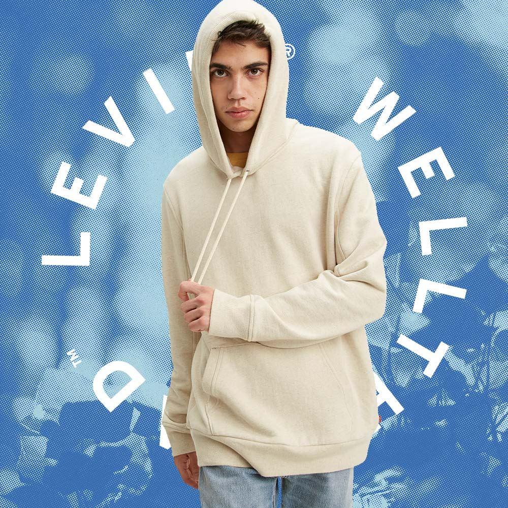 Levis Wellthread環境友善系列 男款 口袋帽T / 棉麻混紡工法 / 低加工保留布料原始質感-熱銷單品