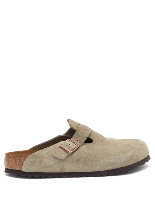Birkenstock - Boston Suede Sandals - Mens - Beige