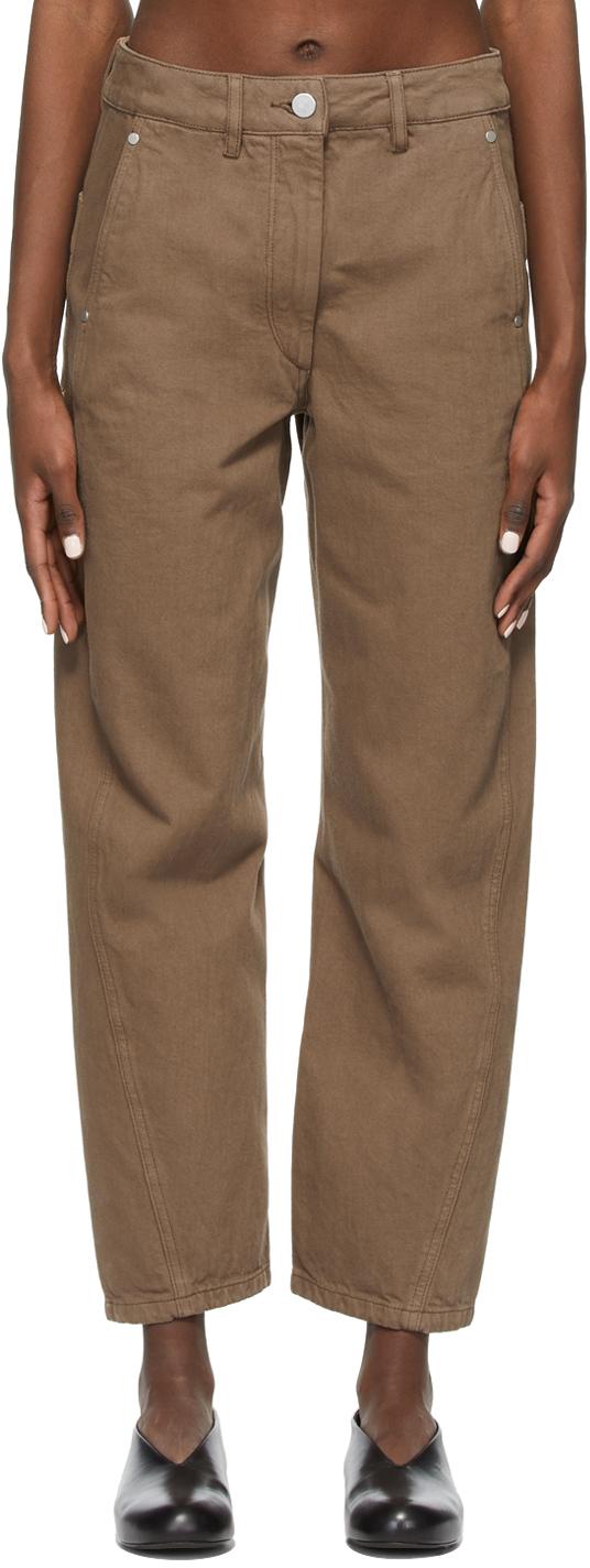 Lemaire SSENSE 独家发售棕色扭褶牛仔裤