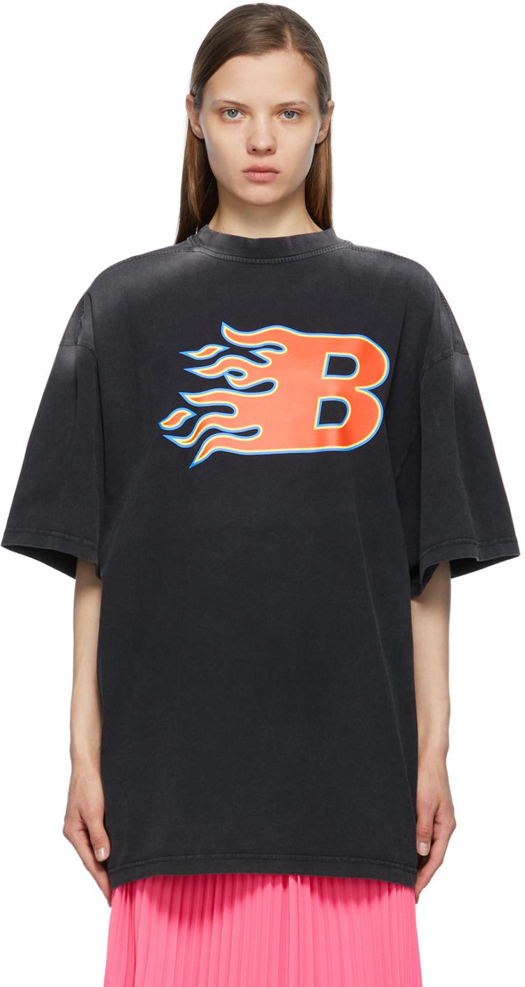 Balenciaga 黑色 Flame T 恤