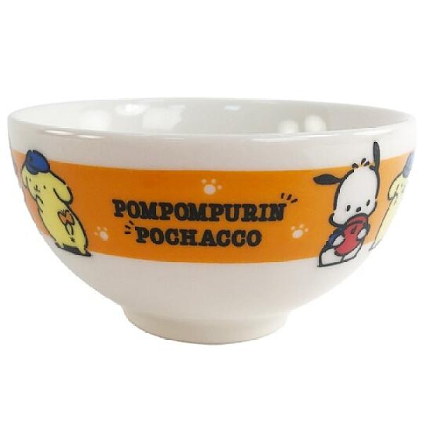小禮堂 Sanrio大集合 日製 陶瓷碗 火鍋碗 飯碗 湯碗 金正陶器 (橘 老帽) 4964412-30470