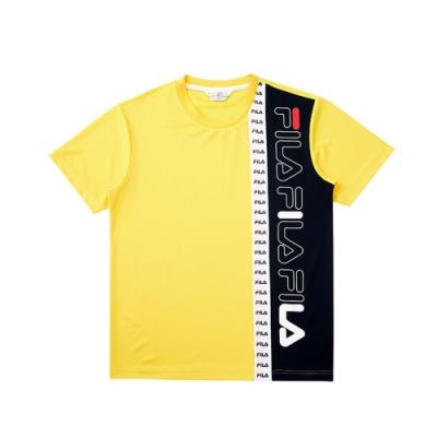 FILA 吸濕排汗短袖圓領T恤-黃色 1TEV-1470-YE