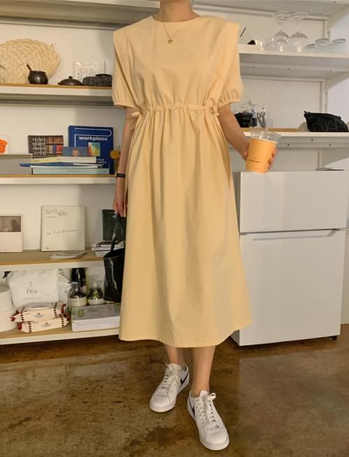 韓國空運 - Like Wing Shirring Long Dress 長洋裝