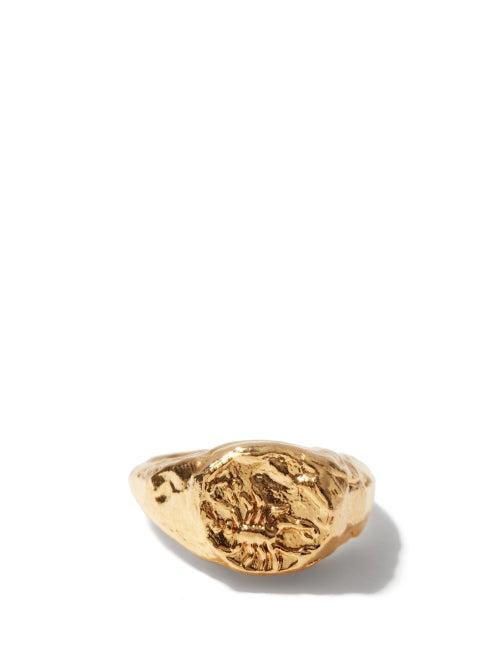 Alighieri - Scorpio 24kt Gold-plated Zodiac Ring - Womens - Gold