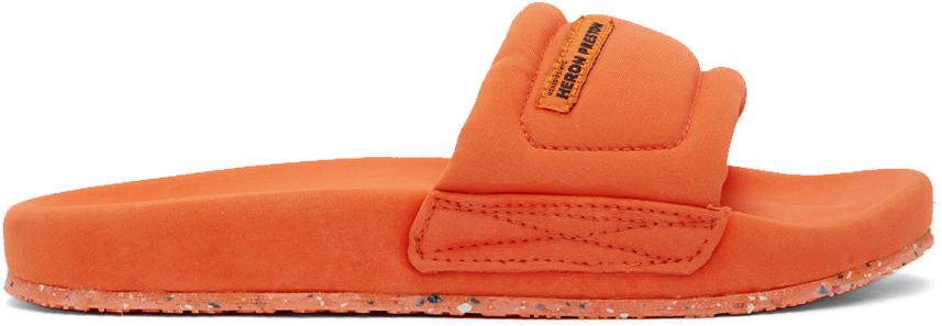 Heron Preston 橙色 Slider 拖鞋