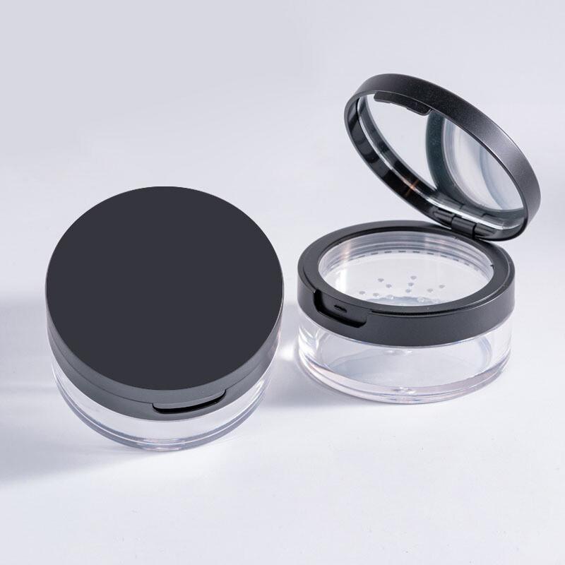 黑色帶鏡片蜜粉分裝盒散粉盒(1組2入)mk036alex shop