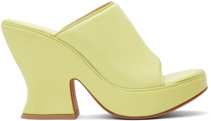 Bottega Veneta 绿色皮革凉鞋
