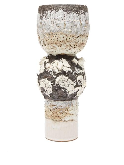 Alison Lousada - Vanskopun Stoneware Vase - Black Multi