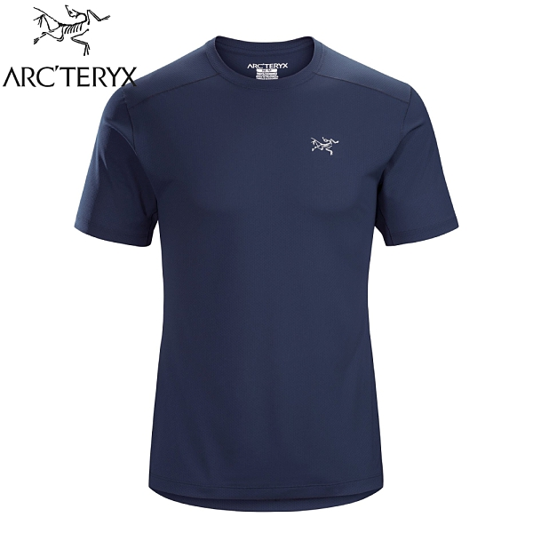 【ARC TERYX 始祖鳥 男 Velox快乾短袖圓領衫《夜月藍》】20987/排汗T恤/運動衫/透氣/吸濕排汗