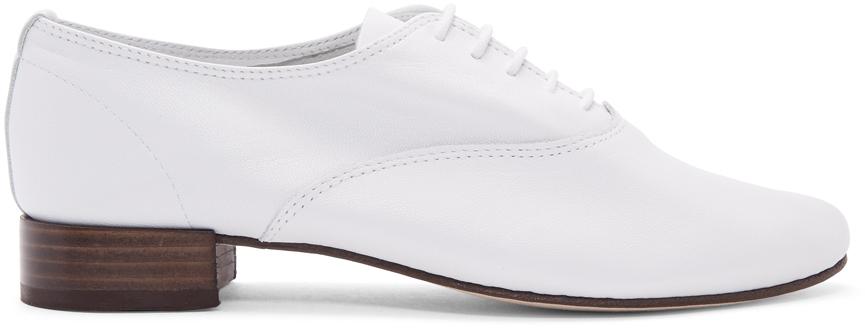 Repetto 白色 Zizi 牛津鞋