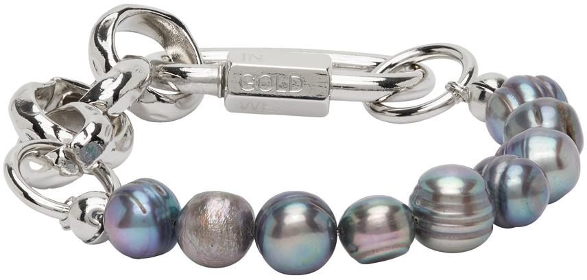 IN GOLD WE TRUST PARIS SSENSE 独家发售银色珍珠手链